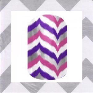 Jamberry Nail Wrap Gala cheveron purple pink